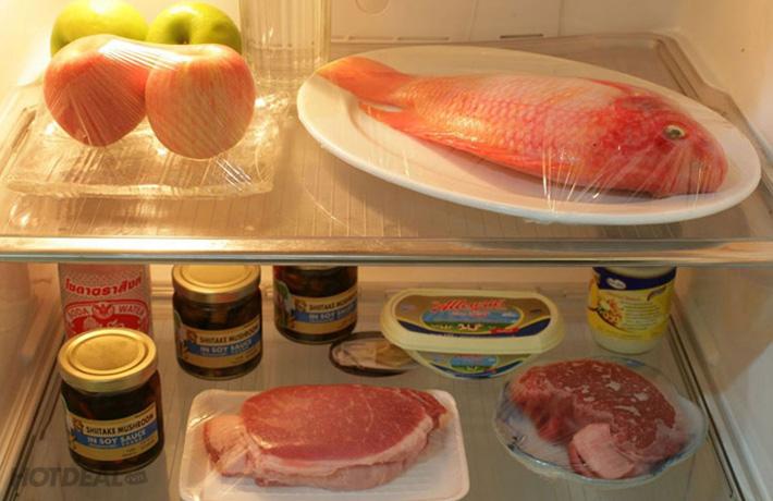 màng pe bọc thực phẩm để tủ lạnh