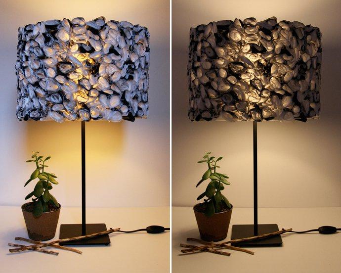 tái chế túi nilon - đèn tường