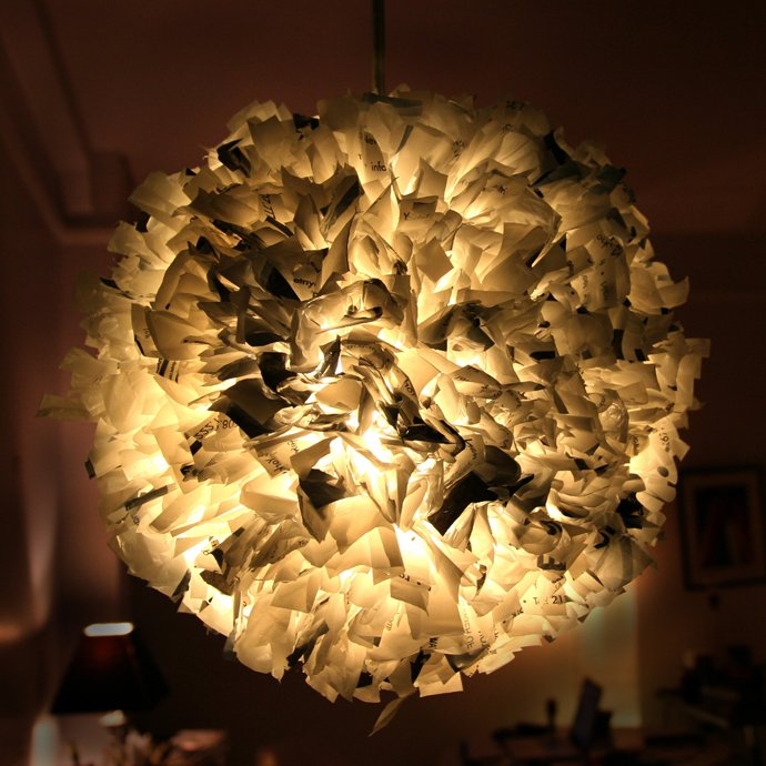 tái chế túi nilon - đèn lồng