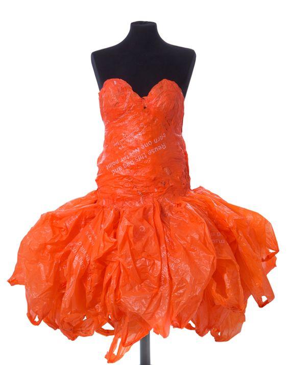 tái chế túi nilon - váy