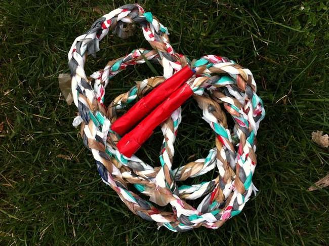 tái chế túi nilon - làm dây nhảy