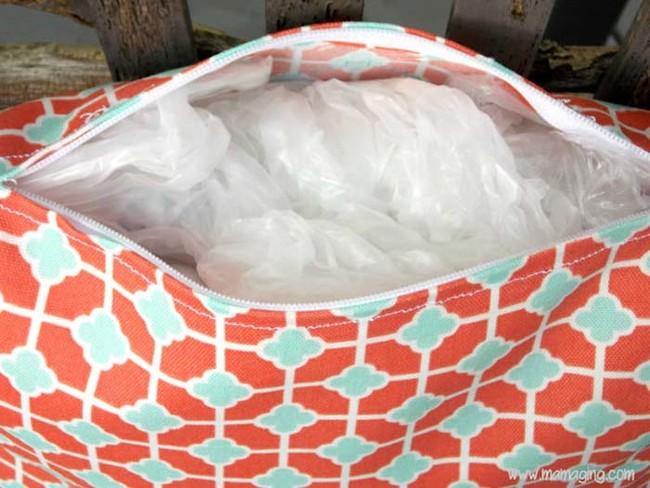 tái chế túi nilon - làm đệm