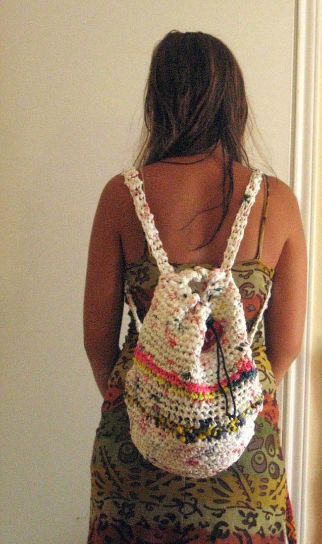 tái chế túi nilon - làm túi xách