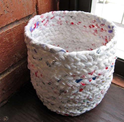 tái chế túi nilon - làm thùng rác