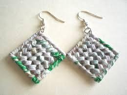 tái chế túi nilon - hoa tai