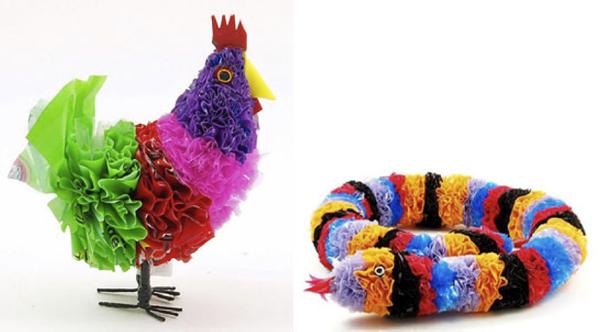 tái chế túi nilon - làm đồ chơi