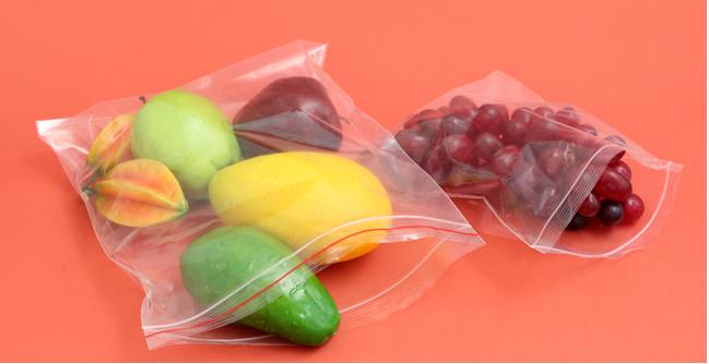 túi zipper dùng để đựng hoa quả