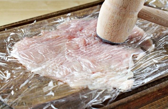 ứng dụng màng pe để làm mềm thịt